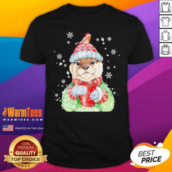 Sea Otter Merry Christmas Shirt - Design By Warmtees.com