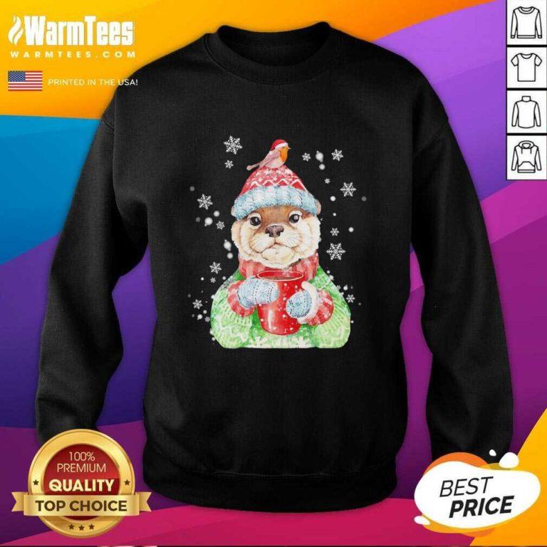 Sea Otter Merry Christmas SweatShirt - Design By Warmtees.com