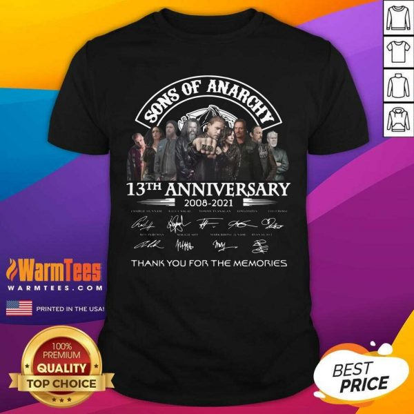 Sons Of Anarchy 13th Anniversary 2008 2021 Signature Shirt - Design By Warmtees.com