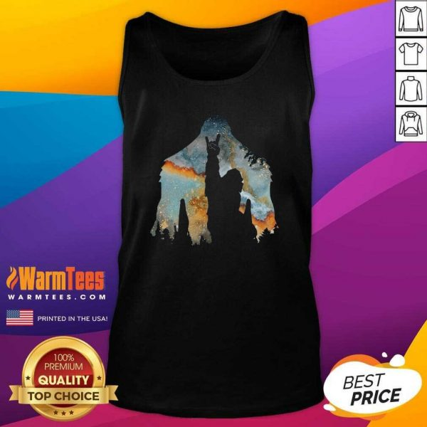 Bigfoot Rock And Roll Tank Top - Design By Warmtees.com