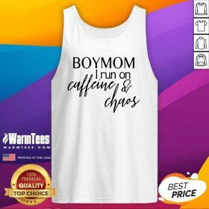 Boy Mom I Run Caffeine And Chaos Tank Top - Design By Warmtees.com