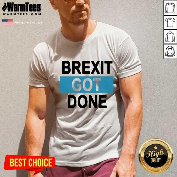 Brexit Got Done Got Brexit Done Leave Eu January 2021 Uk Flag Brexit Day V-neck - Design By Warmtees.com