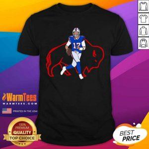 Buffalo Bills 17 Josh Allen Rugby Ball Shirt - Design By Warmtees.com