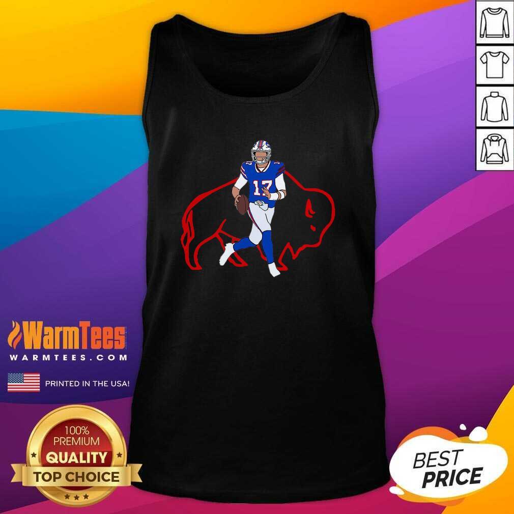 Buffalo Bills 17 Josh Allen Rugby Ball Tank Top  - Design By Warmtees.com