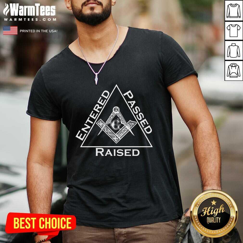 G Entered Passed Raised V-neck  - Design By Warmtees.com