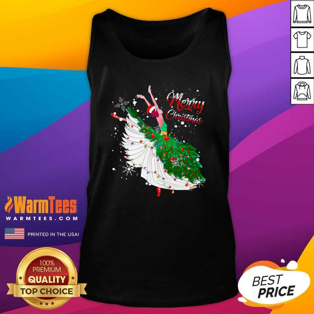 Good Ballet Merry Christmas Tank Top  - Design By Warmtees.com