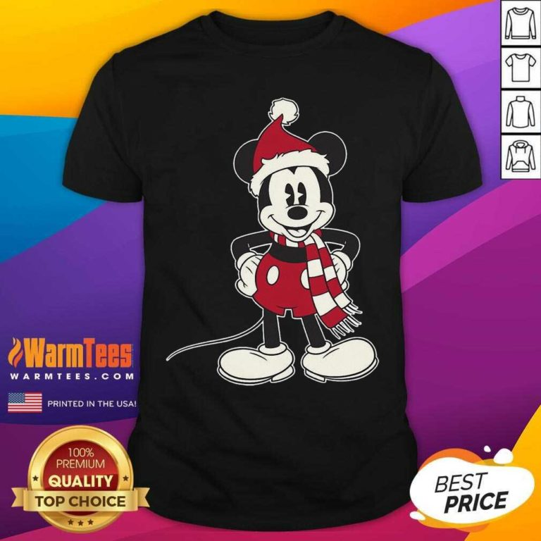 Mickey Mouse Santa Hat Merry Christmas Shirt - Design By Warmtees.com