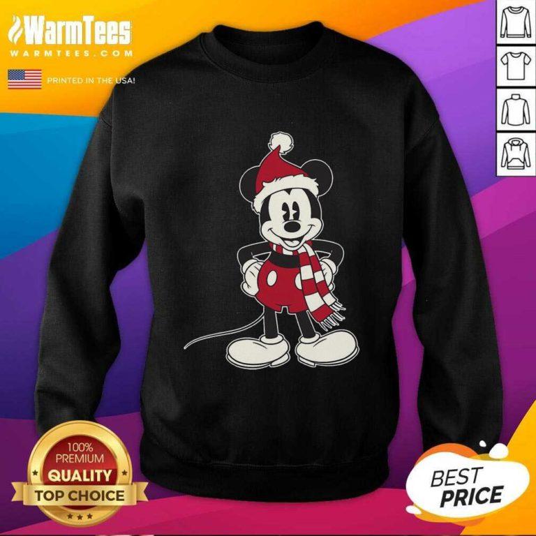 Mickey Mouse Santa Hat Merry Christmas SweatShirt - Design By Warmtees.com