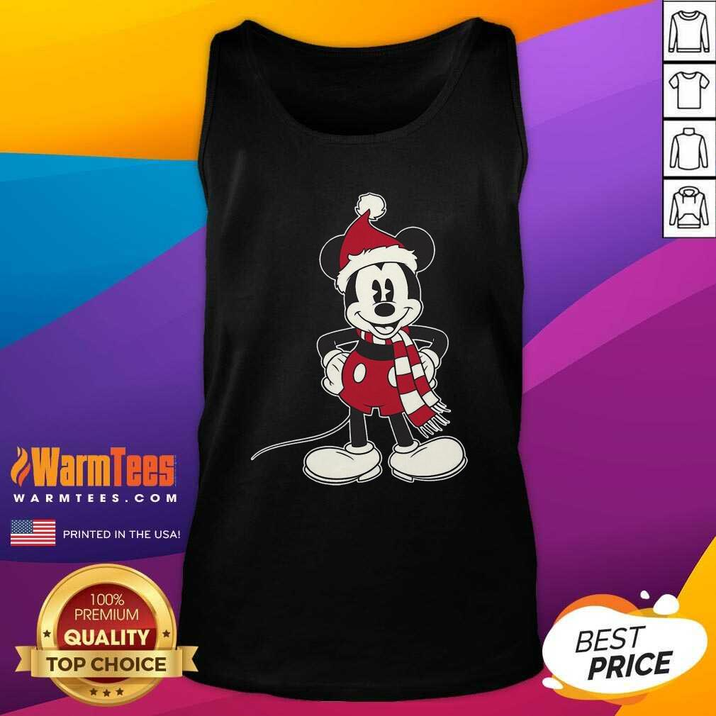 Mickey Mouse Santa Hat Merry Christmas Tank Top - Design By Warmtees.com