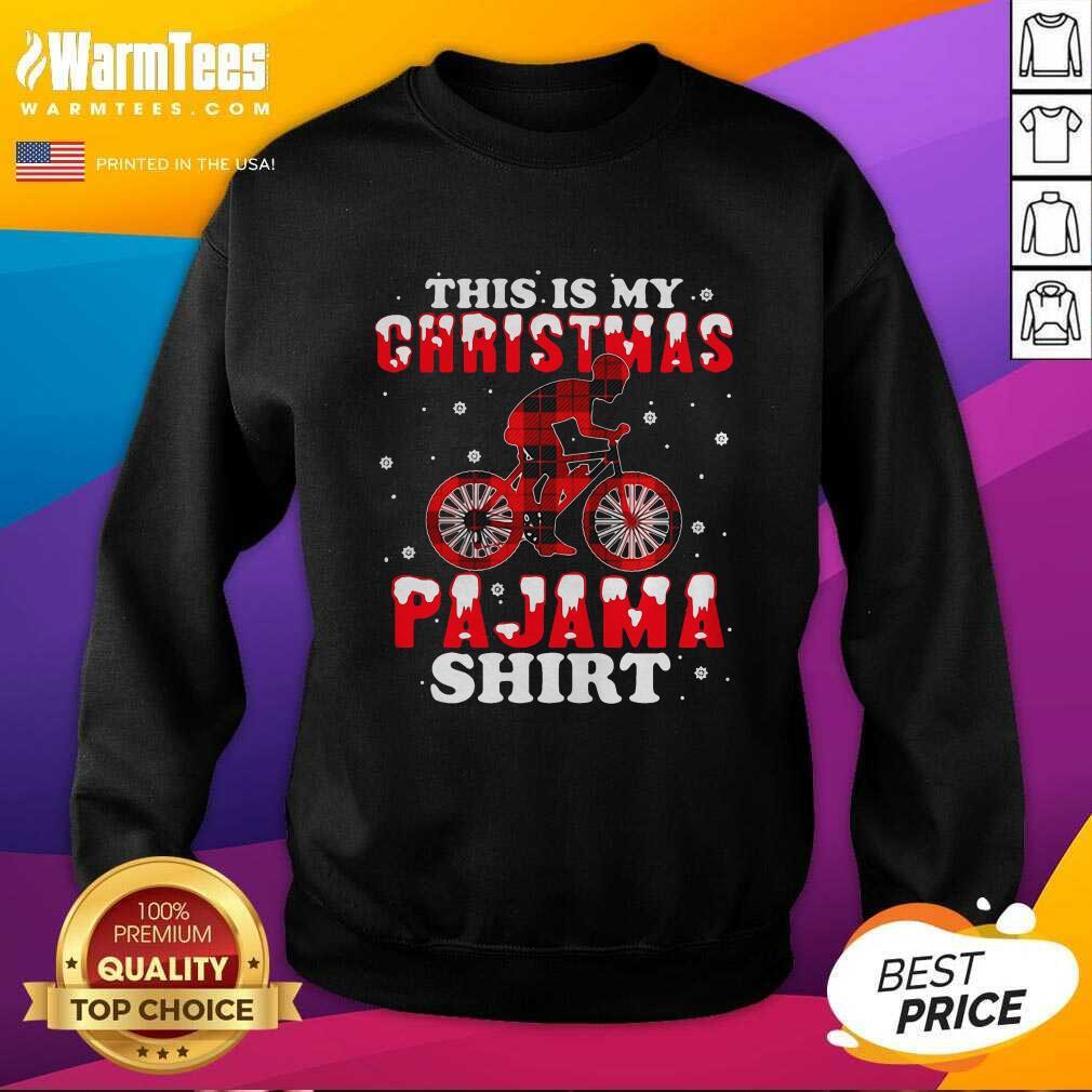 Mountain Biking This Is My Christmas Pajama SweatShirt  - Design By Warmtees.com