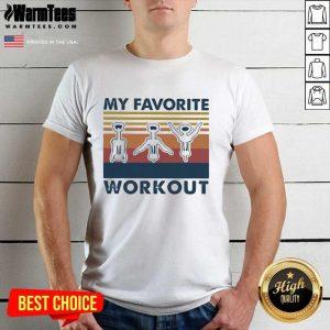 My Favorite Workout Vintage Shirt - Design By Warmtees.com