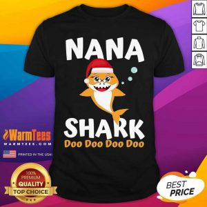 Nana Shark Christmas Mommy Shark Daddy Shark Shirt - Design By Warmtees.com