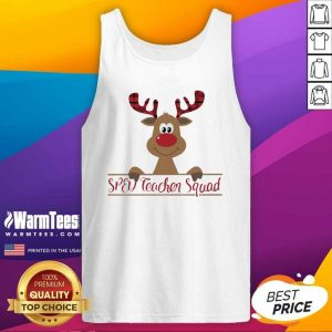 Reindeer Sped Teacher Squad - Design By Warmtees.com Christmas Tank Top