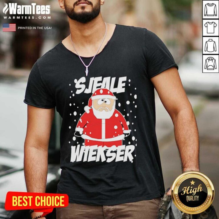 Santa Claus SJeale Wieser Christmas V-neck - Design By Warmtees.com