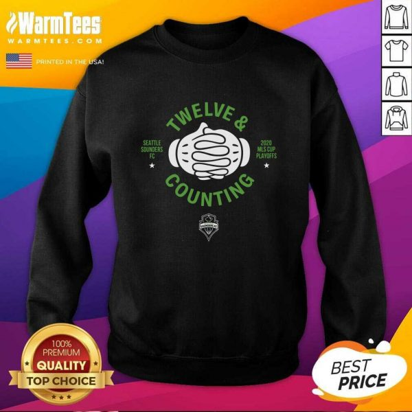 Seattle Sounders Fc Twelve And Counting 2020 Mls Cup Playoffs SweatShirt - Design By Warmtees.com