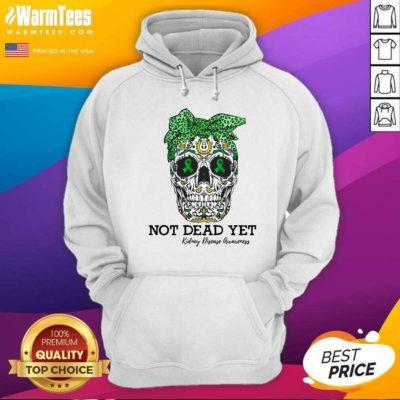Skull Warrior Not Dead Yet Kidney Disease Awareness Hoodie - Design By Warmtees.com