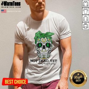 Skull Warrior Not Dead Yet Kidney Disease Awareness V-neck - Design By Warmtees.com
