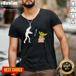 Star Wars Mandalorian Baby Yoda Grogu Stunned V-neck - Design By Warmtees.com