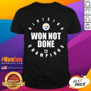 Steelers Afc North Champs We Not Done Shirt - Design By Warmtees.com