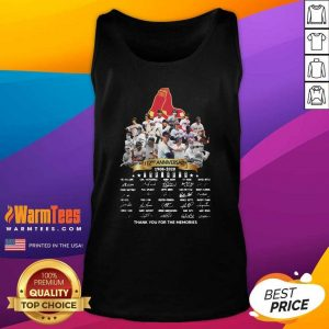 The Boston Red Sox 112nd Anniversary 1902 2020 Thank You For The Memories Signatures Tank Top - Design By Warmtees.com