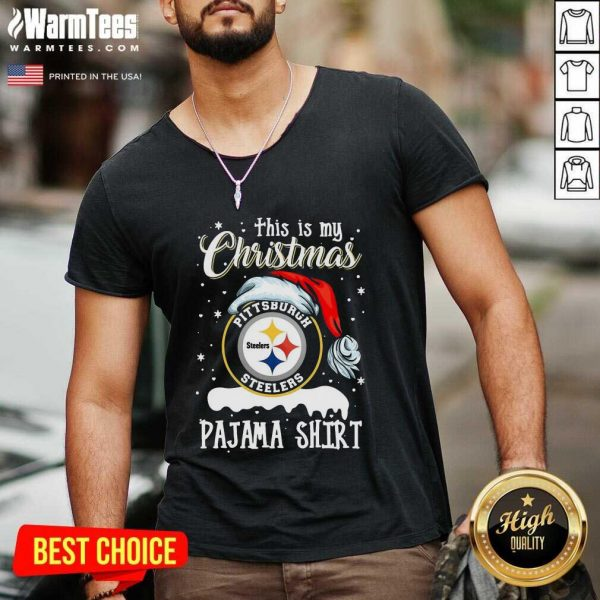 This Is My Christmas Pittsburgh Steelers Pajama V-neck - Design By Warmtees.com