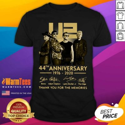 U2 45th Anniversary Thank You For The Memories Signatures Shirt - Design By Warmtees.com