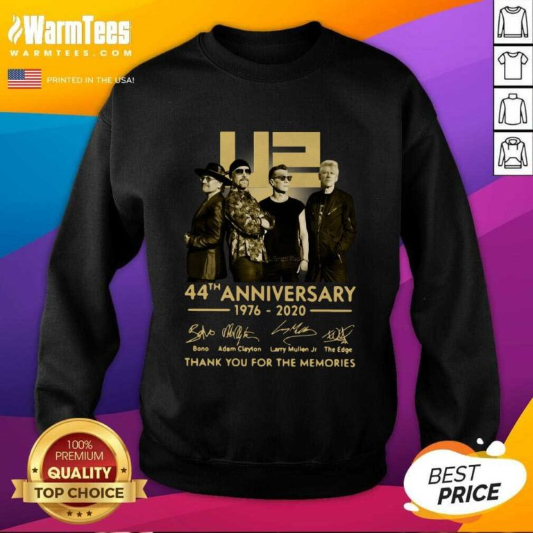 U2 45th Anniversary Thank You For The Memories Signatures SweatShirt - Design By Warmtees.com