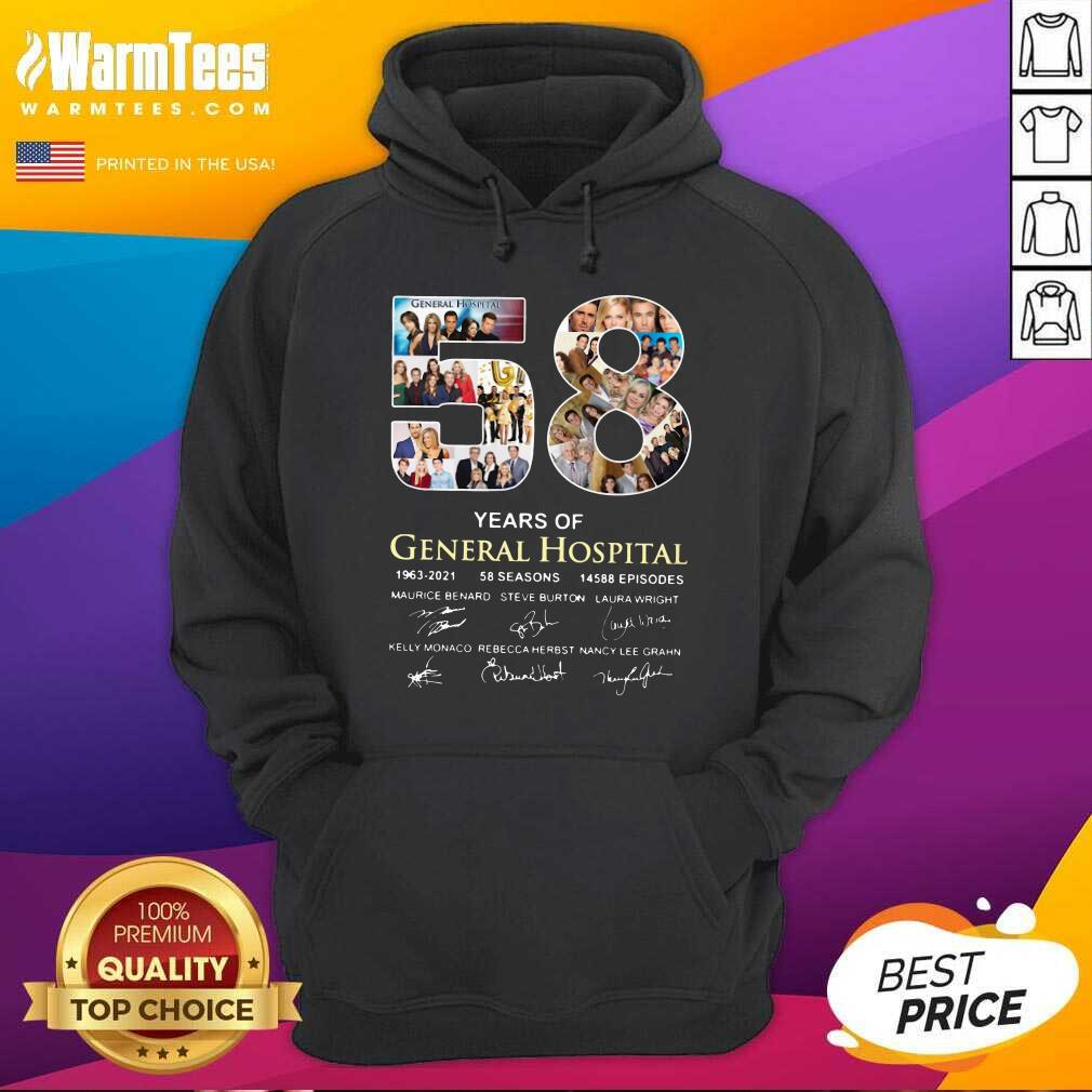 58 Years Of General Hospital 1963 2021 58 Seasons 14588 Episodes Signatures Hoodie  - Design By Warmtees.com