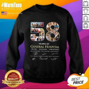 58 Years Of General Hospital 1963 2021 58 Seasons 14588 Episodes Signatures SweatShirt - Design By Warmtees.com