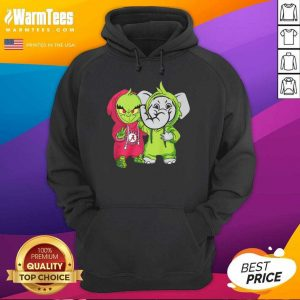 Baby Grinch Baby Elephant Peace Alabama Crimson Tide Hoodie - Design By Warmtees.com