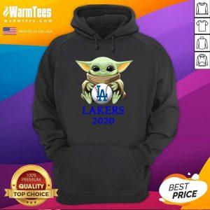 Baby Yoda Hug Los Angeles Lakers 2020 Hoodie - Design By Warmtees.com