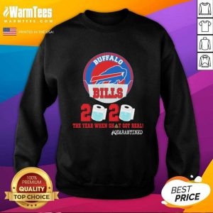 Buffalo Bills Face Mask 2020 Toilet Paper The Year When Shit Got Real Quarantine SweatShirt - Design By Warmtees.com