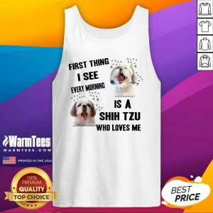 Dog First Thing I See Every Morning Is A Weimaraner Who Loves Me Tank Top - Design By Warmtees.com