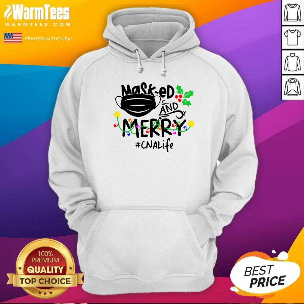 Mask-ed And Merry Christmas Cna Life Hoodie - Design By Warmtees.com