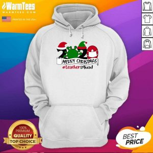 Merry Christmas 2020 Santa Elf Coronavirus Teacher Squad Hoodie - Design By Warmtees.com