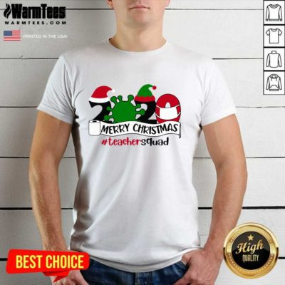 Merry Christmas 2020 Santa Elf Coronavirus Teacher Squad Shirt - Design By Warmtees.com