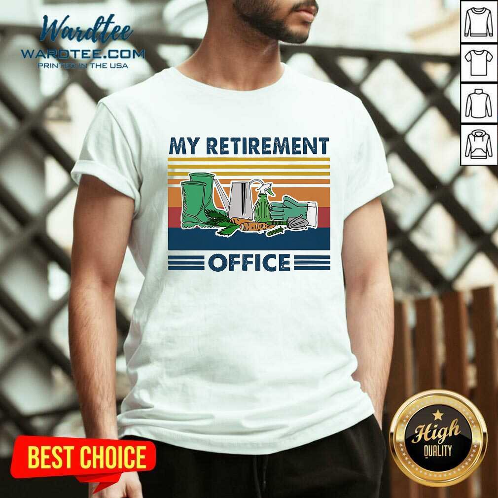 My Retirement Office Vintage V-neck  - Design By Warmtees.com