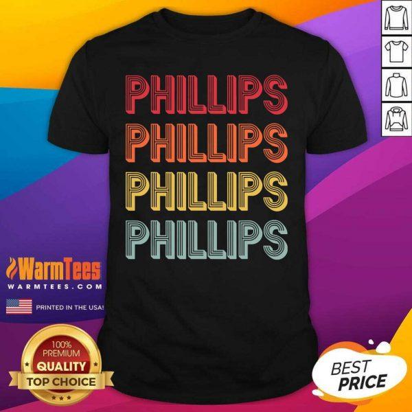 Phillips Surname Vintage Birthday Reunion Shirt - Design By Warmtees.com