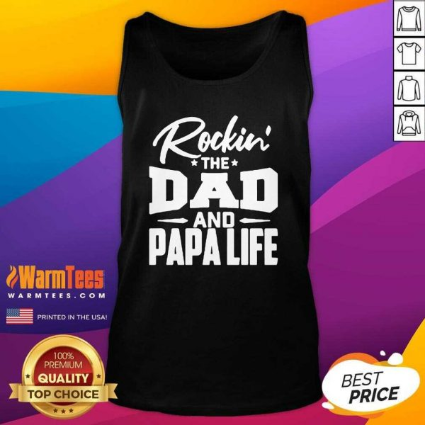 Rockin' The Dad And Papalife Tank Top - Design By Warmtees.com