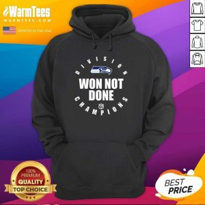 Seahawks Nfc West Champions We Not Done Hoodie - Design By Warmtees.com
