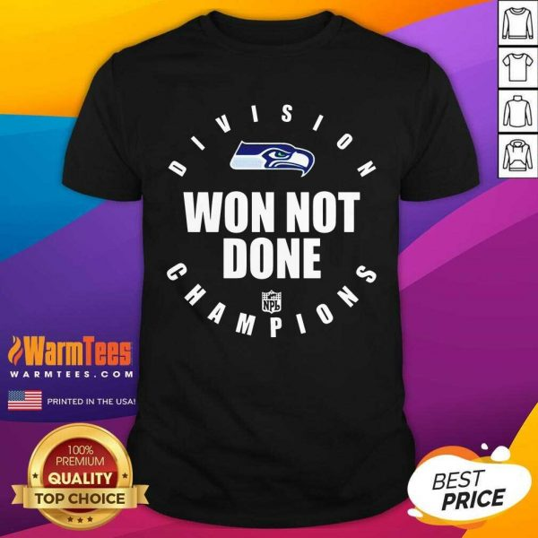 Seahawks Nfc West Champions We Not Done Shirt - Design By Warmtees.com