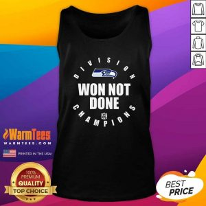 Seahawks Nfc West Champions We Not Done Tank Top - Design By Warmtees.com
