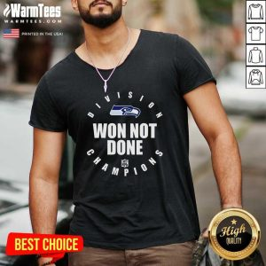 Seahawks Nfc West Champions We Not Done V-neck - Design By Warmtees.com