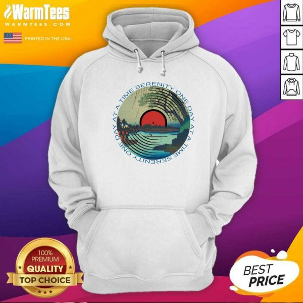 Sobriety Serenity One Day At A Time AA Sober Hoodie - Design By Warmtees.com