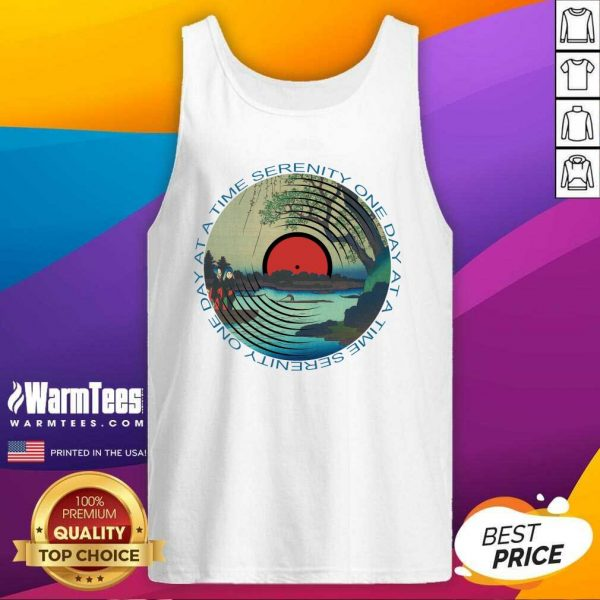 Sobriety Serenity One Day At A Time AA Sober Tank Top - Design By Warmtees.com