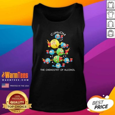 The Chemistry Of Alcohol Christmas Tank Top - Design By Warmtees.com