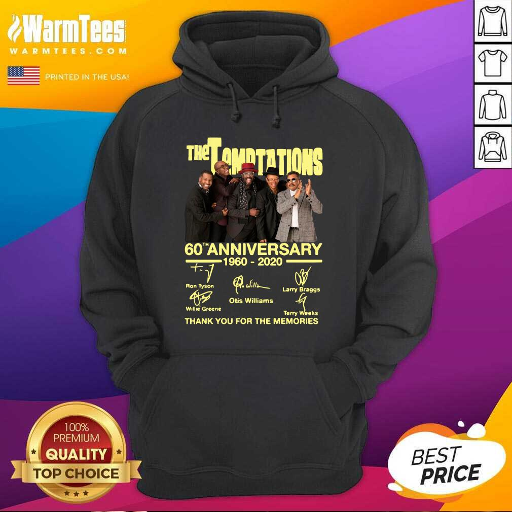The Temptations 60th Anniversary 1960 2020 Thank You For The Memories Signature Hoodie  - Design By Warmtees.com