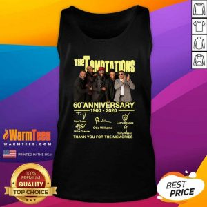 The Temptations 60th Anniversary 1960 2020 Thank You For The Memories Signature Tank Top - Design By Warmtees.com