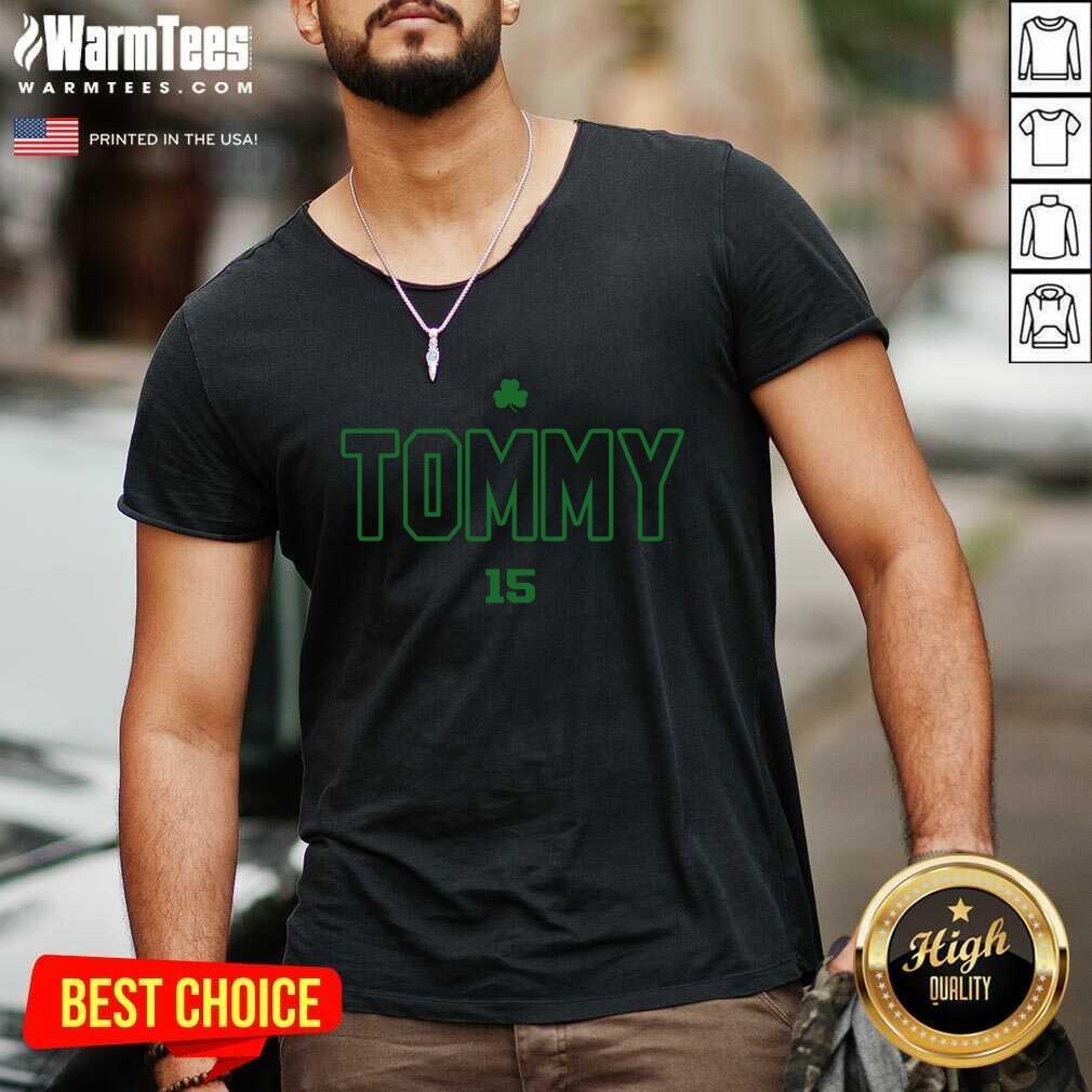 Tommy Tribute 15 V-neck  - Design By Warmtees.com
