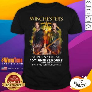 Winchesters Supernatural 15th Anniversary 2005 2020 Thank You For The Memories Signature Shirt - Design By Warmtees.com